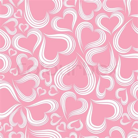 swirl heart pattern pink red pattern heart background seamless with swirl