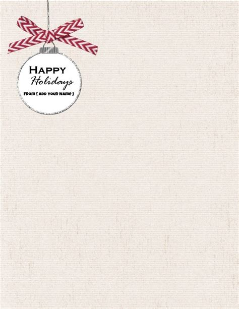 free printable monogram stationery free personalized christmas stationery
