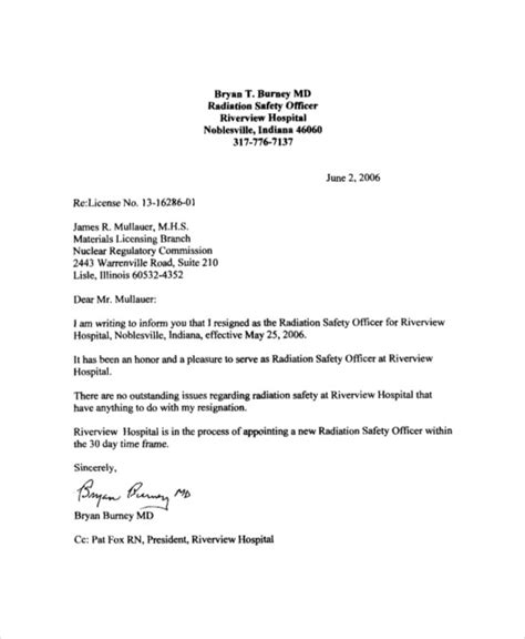 letter resignation template word