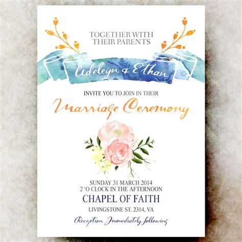 E Wedding Invitation Templates Cloudinvitation Com E Invitations Template