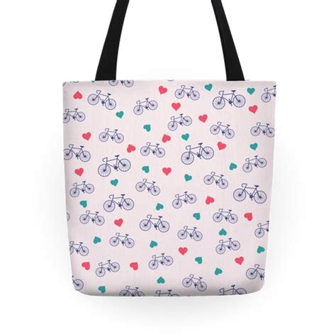 heart tote bag pattern bikes and heart pattern tote bag lookhuman