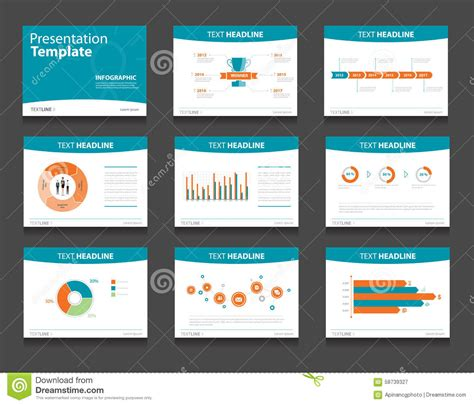 Infographic Powerpoint Template Design Backgrounds Business Presentation Template Set Stock Powerpoint Template Design