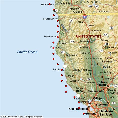 map of oregon and california coast map of northern california oregon coast pictures to pin on