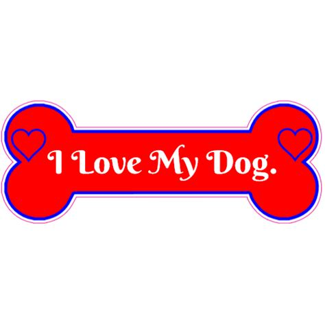 i my puppy i my bone sticker u s custom stickers