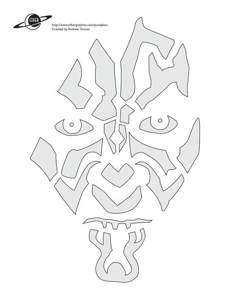 free printable pumpkin stencils star wars darth maul stencil stencils pinterest