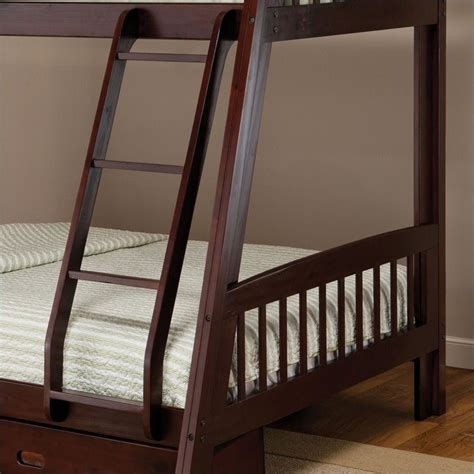espresso bunk bed hillsdale rockdale twin over full bunk bed set in espresso