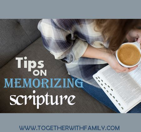 ways to memorize scripture! together with family