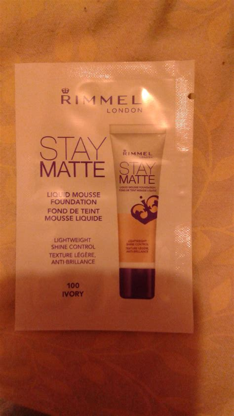 Rimmel Stay Matte Liquid Mousse rimmel stay matte liquid mousse foundation reviews