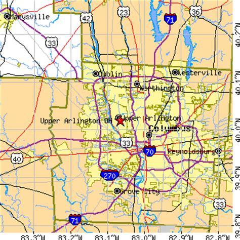 zip code map upper arlington ohio upper arlington ohio oh population data races