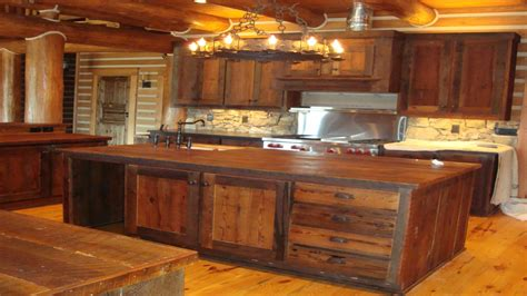 Rustic Kitchen Furniture Modern Furniture Rustic Barnwood Kitchen Cabinets Design Reclaimed Barnwood Kitchen