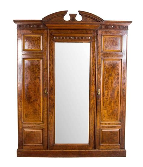 victorian armoire wardrobe large antique scottish victorian three door walnut armoire
