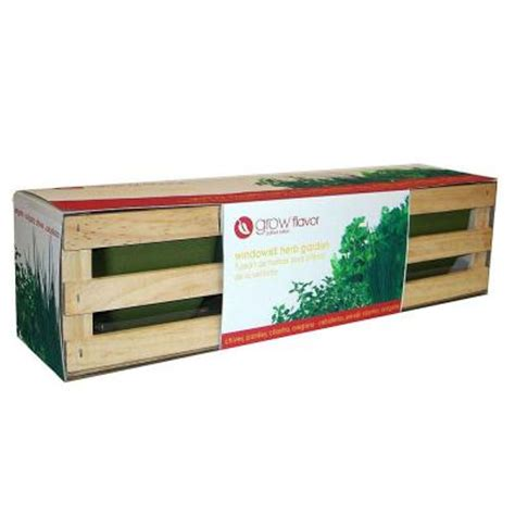 windowsill herb garden kit ferry morse grow flavor windowsill herb garden kit 8903