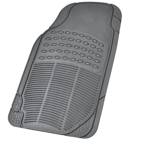 Suv Floor Mats by 3 Row Suv Floor Mats All Weather Rubber Protection 4 Gray Trimmable Ebay