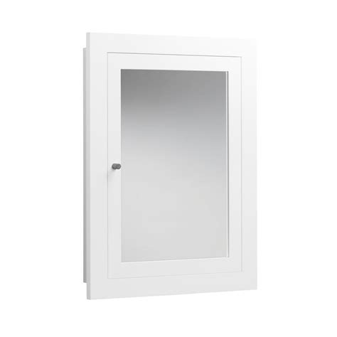 White Framed Recessed Medicine Cabinet by Ronbow Transitional 24 1 2 In W X 32 1 2 In H X 5 In D