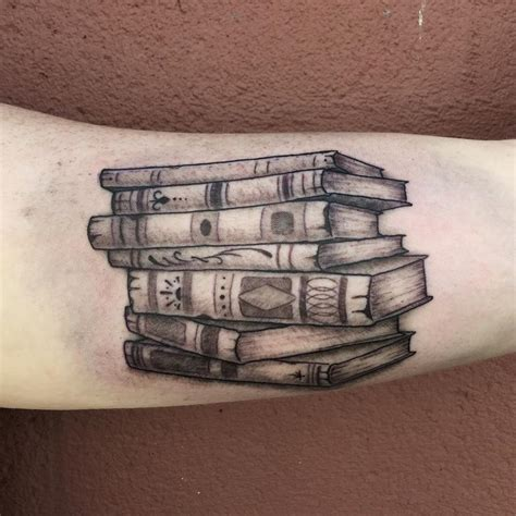 stack of books tattoo book tattoos designs ideas and meaning tattoos for you