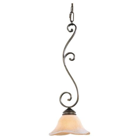 Tuscan Pendant Lights Feiss Tuscan Villa 1 Light Corinthian Bronze Mini Pendant P1071cb The Home Depot