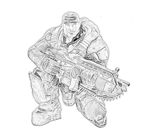 free coloring pages of gears of war