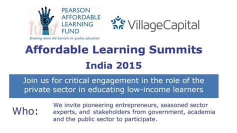 Distance Mba In Entrepreneurship In India by Affordable Learning Summits To Catalyze Education Focused