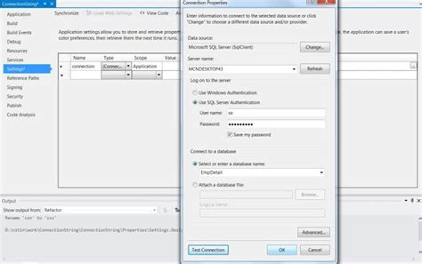 design form in c create single connection string for all windows form in net