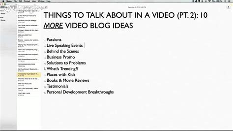 themes to talk about things to talk about in a video pt 2 10 more video