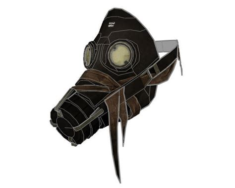 Papercraft Gas Mask - dishonored size assassins whalers mask papercraft