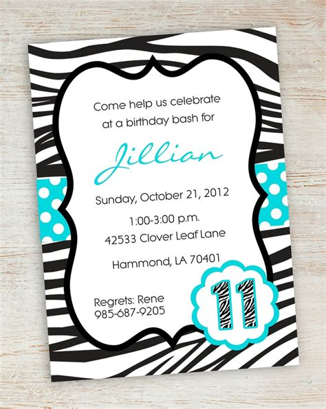 free printable zebra print invitation templates 7 best images of free printable zebra birthday invitations