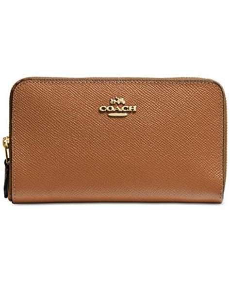Coach Medium Wallet Ori coach medium zip around wallet in crossgrain leather handbags accessories macy s