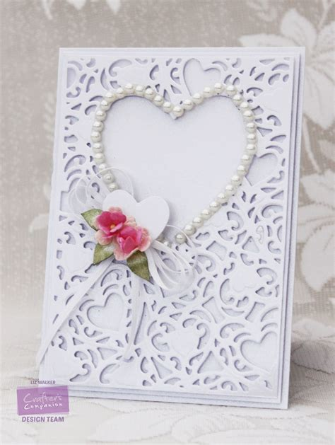 Create Wedding Card by Wedding Set With Create A Card Dies Crafter S Companion
