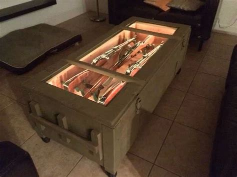 gun table gun display coffee table for home
