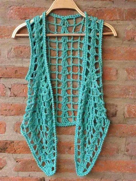 chalecos redondos y rectangulares a crochet mejor las 25 mejores ideas sobre chalecos tejidos en pinterest y
