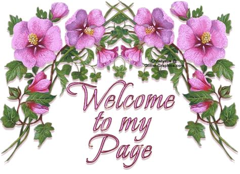 welcome images with flowers glitter graphics the community for graphics enthusiasts