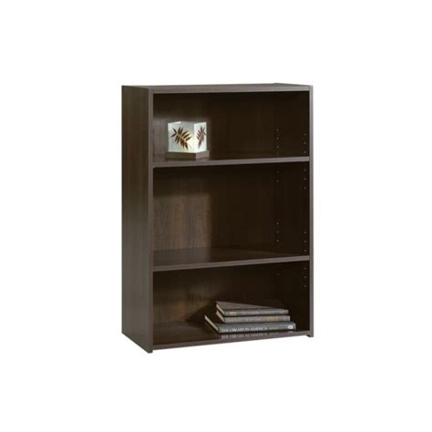Sauder 3 Shelf Bookcase Beginnings 3 Shelf Bookcase In Cinnamon Cherry 409086
