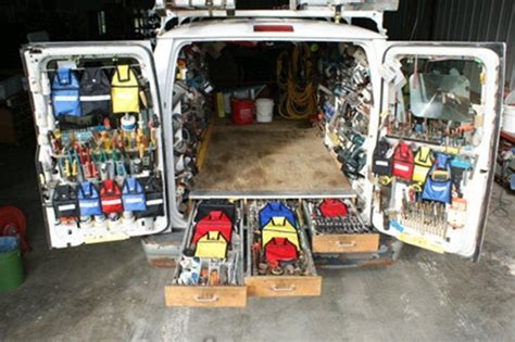 Plumbing Truck Setup by Snappypocket Lightweight Hanging Pouches For