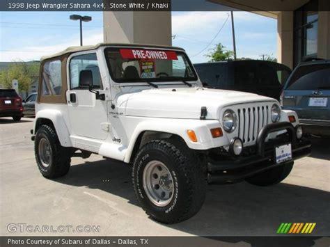 1998 White Jeep White 1998 Jeep Wrangler 4x4 Khaki