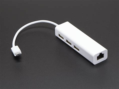 Usb Lan Hub Ethernet Hub And Usb Hub W Micro Usb Otg Connector Id 2992 14 95 Adafruit Industries