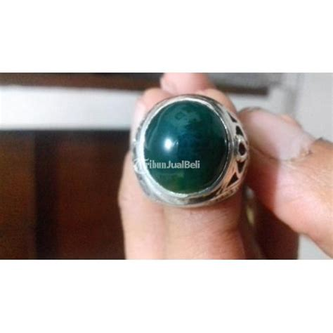 Bacan Gulau Hitam cincin batu bacan gulau ring perak 925 motif bagus