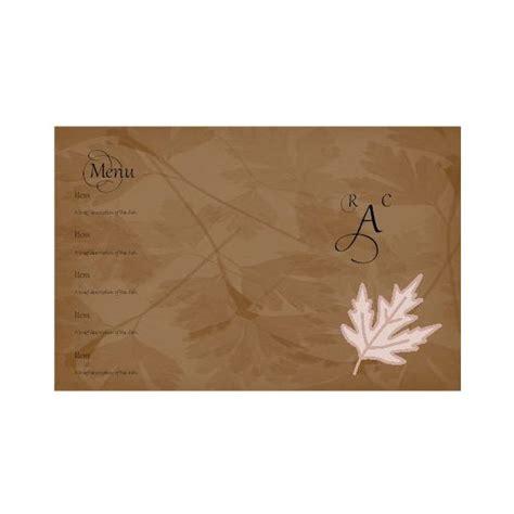 blank menu card templates a free wedding menu card template diy and save