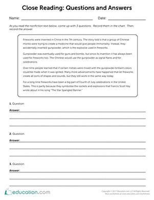 Restating The Question Worksheet by 3rd Grade Reading Worksheets Free Printables Education