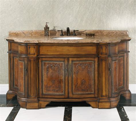 Small Bathroom Vanity With Vessel Sink - 72 inch vintage single sink bathroom vanity wb 2772l in antique walnut brown finish