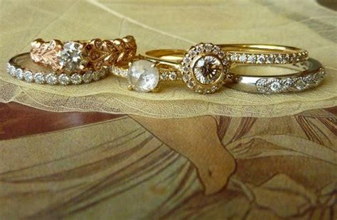 gorgeous and unique engagement rings and wedding bands on