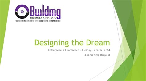 design proposal sponsorship designing the dream entrepreneur conference sponsorship