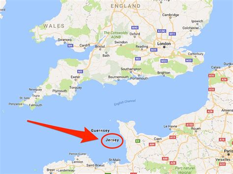 map uk and channel islands a ship accidentally cut jersey s cables with its