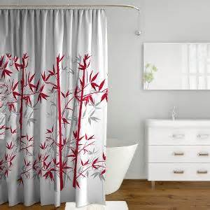 Red And Gray Shower Curtain Tangerine Polyester Eyelet Shower Curtain Red Amp Grey