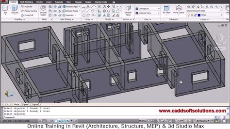 Autocad 3d House Modeling Tutorial 2 3d Home Design Autocad For Home Design