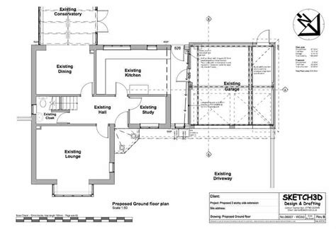 extension floor plans exle house extension plans design 2