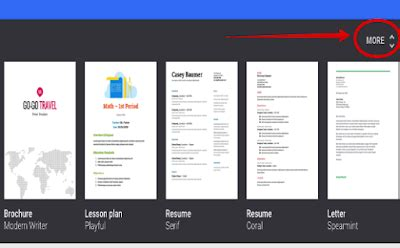 4 Awesome Google Drive Templates To Help Students Create Professionally Looking Resumes Template For Students Docs