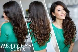 hair 2015 style heatless curls hair tutorial youtube