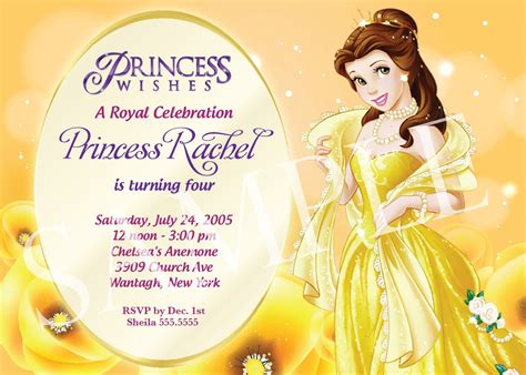 free disney princess invitation templates disney birthday invitations template best template