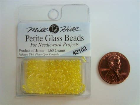 Mill Hill Glass Seed 42102 mill hill glass for needlework projects 42102 lemon