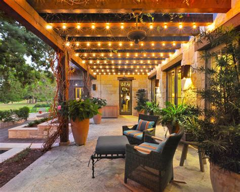 Wood Pergola Outdoor Walkway Patio Seating String Outdoor String Lights Patio Ideas